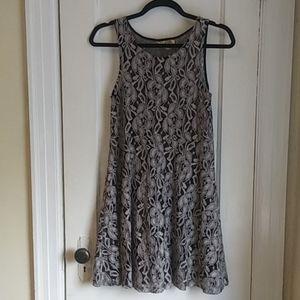 Free People Grey Lace Dress
